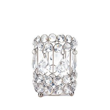 Iron Crystal Drop Candle Holder
