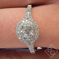 Ben Garelick Double Cushion Halo Pre-Set Diamond Engagement Ring