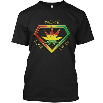 Peace Love Ganja Cannabis Weed T-Shirt