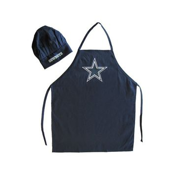 Dallas Cowboys Apron and Chef Hat Set
