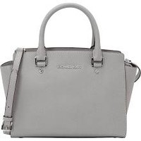 Michael Kors Selma Medium Top Zip Satchel - Pearl Grey - Satchels