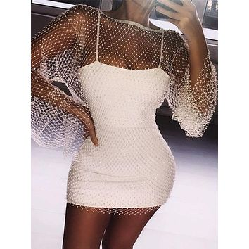 Judit Sexy Hollow Out Mesh Dress