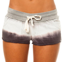 Vans Short Key Dip Dye French Terry in Black