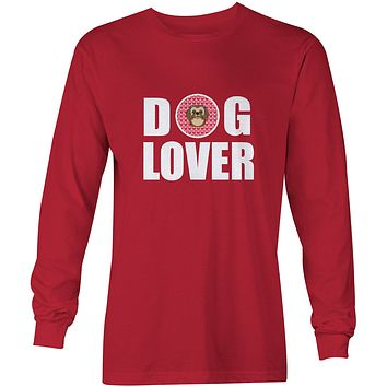 Chocolate Brown Shih Tzu Dog Lover Long Sleeve Red Unisex Tshirt Adult Large BB5319-LS-RED-L