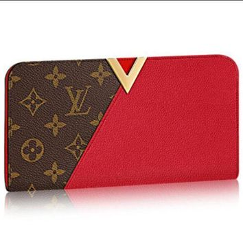 DCCK LOUIS VUITTON LEATHER PURSE CLUTCH KIMONO WALLET BAGS