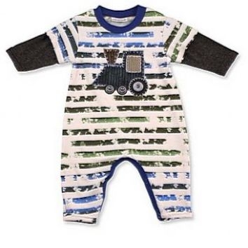 Boys Choo Choo Train Jumpsuit Newborn to 9 Months Now in Stock - Boys Infant