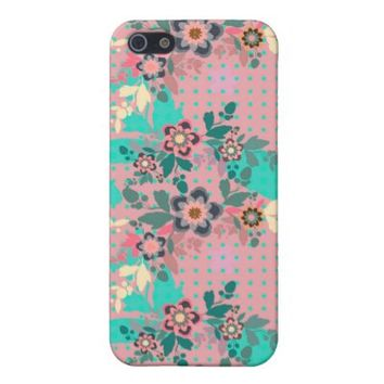 Cute Pink Floral Textile Pattern iPhone 5 Cover