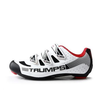 TIEBAO 6-1688 New Arrival Road Cycling Shoes Black & White Road Bike Shoes Compatible SPD,LOOK-KEO Cleat Pedal Bicycle Shoes