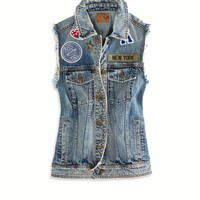 AE Slouchy Jean Vest