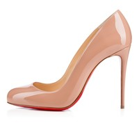 Dorissima 100 Nude Patent Leather - Women Shoes - Christian Louboutin