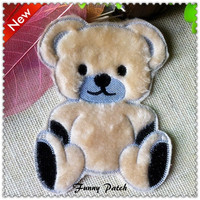 Lovely Bear Large Iron on Applique 171-H