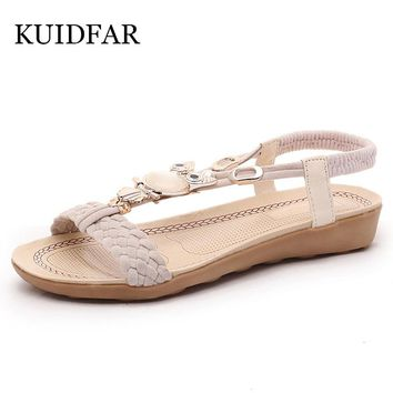 Women Sandals Women shoes Flip Flops  women's sandals Summer Ankle-Strap Sandals Femme Crystal Soft Women Shoes Animal Prints