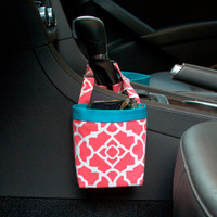CAR CELLPHONE CADDY, Waverly Lovely Lattice Blossom, Sunglasses Holder, Golf Cart Bag, Pool Chair Caddy, Beach Chair Bag
