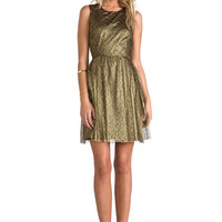 ERIN erin fetherston Odile Dress in Metallic Gold