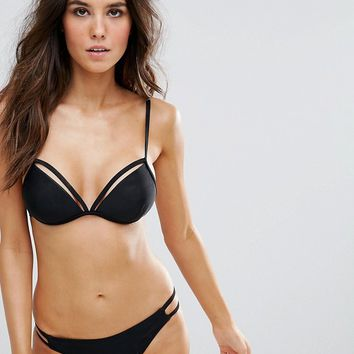 South Beach Molded Cup Bikini Set at asos.com