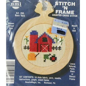 Barn Yard - Stitch 'N Frame - Counted Cross Stitch Kit - NeedleMagic