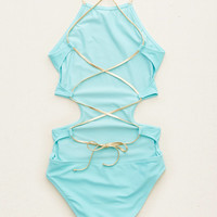AERIE CUTOUT STRAPPY ONE-PIECE SWIMSUIT