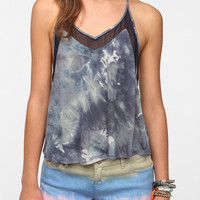 Lucca Couture Chiffon Mix Tank Top