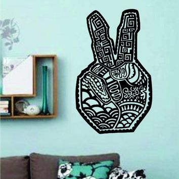 Tribal Peace Symbol Hand Vinyl Wall Decal Sticker Car Window Truck Decals Stickers