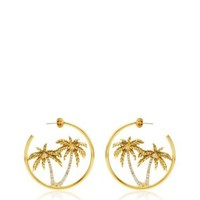 Palm Tree Hoop Earring