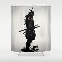 Armored Samurai Shower Curtain by Nicklas Gustafsson