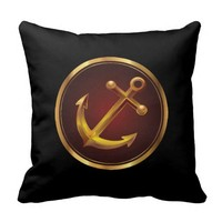 Classy Nautical Anchor Pillow