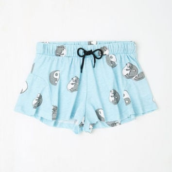 Mink Pink Cats Just Yangin' Out Pajama Shorts