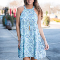 I've Got A Crush Dress. Indigo-Mint