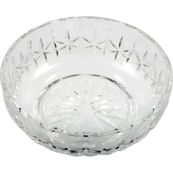 Waterford Irish Crystal Carlow Bowl Hand Cut Art Glass Stars Signed