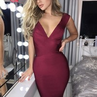 Tiana Cross Front Bandage Dress