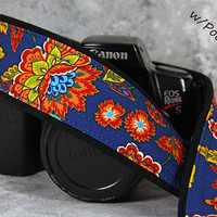 dSLR Camera Strap, Pocket, Royal, Orange, Yellow, Gold, Aqua, SLR, 28