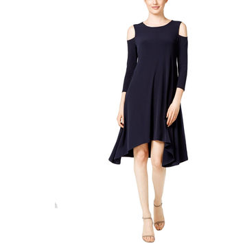 Alfani Womens Matte Jersey Asymmetric Tunic Dress