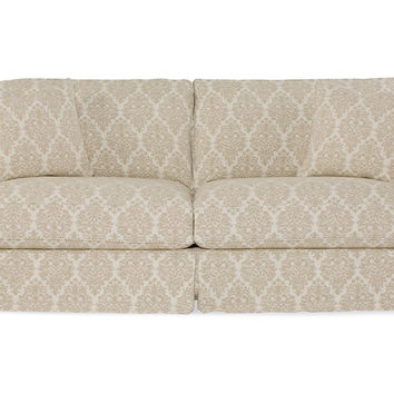 """Shabby Chic, Comfy 90"""" Queen Sleeper Sofa, Natural, Sleepers"""