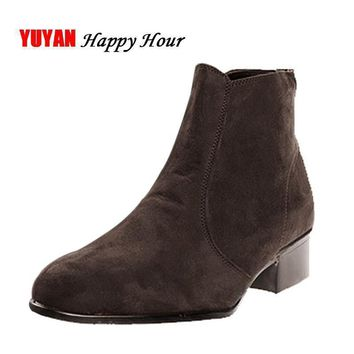new-2017-autumn-and-early-winter-shoes-men-chelsea-boots-low-square-heel-fashion-men-s number 1