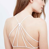 Free People Seamless Strap Back Bra in White - Urban Outfitters
