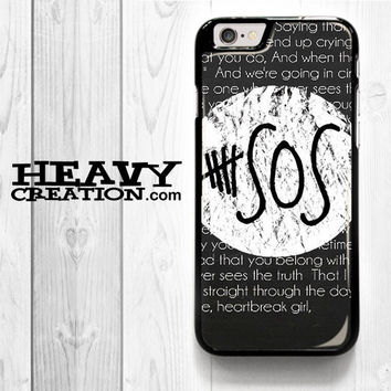 5 Sos Quote for iPhone 4 4S 5 5S 5C 6 6 Plus , iPod Touch 4 5  , Samsung Galaxy S3 S4 S5 S6 S6 Edge Note 3 Note 4 , and HTC One X M7 M8 Case