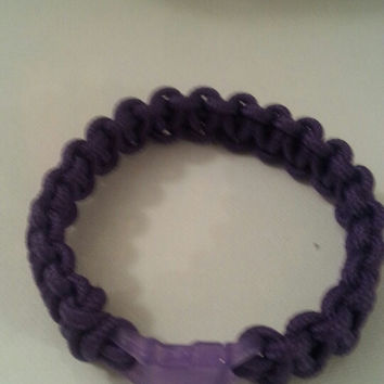 Purple paracord parachute cord 550/325 bracelet with survival buckle or regular buckle