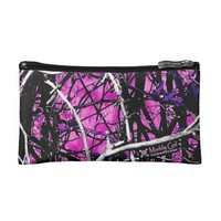 Black and Pink camo cosmetic bag