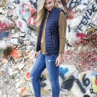 Tribeca Quilted Vest, Navy