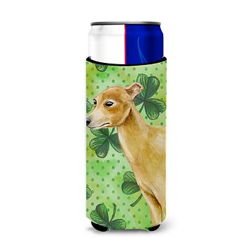 Italian Greyhound St Patrick's Michelob Ultra Hugger for slim cans BB9872MUK
