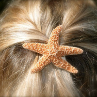 Starfish Barrette or Hair ClipSugar Starfish by sandnsurfcreations