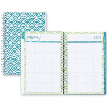"Dabney Lee ""Seashells"" Clear Cover Weekly/Monthly 5 x 8 Planner, Jan 2016 - Dec 2016"