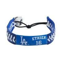 GameWear Los Angeles Dodgers Andre Ethier Leather Baseball Bracelet|GameWear Los Angeles Dodgers Andre Ethier Leather Baseball Bracelet