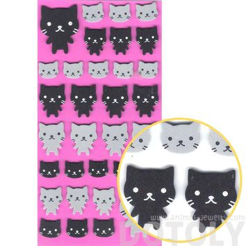 Simple Kitty Cat Animal Shaped Foam Plastic Stickers for Scrapbooking and Decorating