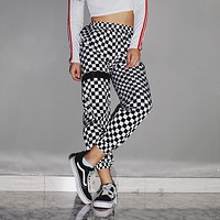 Checkered Racer Trouser