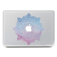 "iCasso Leaves Removable Vinyl Decal Sticker Skin for Apple Macbook Pro Air Mac 13"" inch / Unibody 13 Inch Laptop (Blue and Pink)"