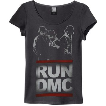 Run DMC  Silhouette Junior Top Black