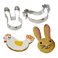 Funny Bunnies Cookie Cutters