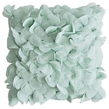 Boutique Floral Pillow - Blue