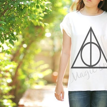 Harry Potter and the Deathly Hallows style - Premium cotton Crop tank, Tank Top, T-shirt, Long sleeve, unisex shirt, women tank, girl tank